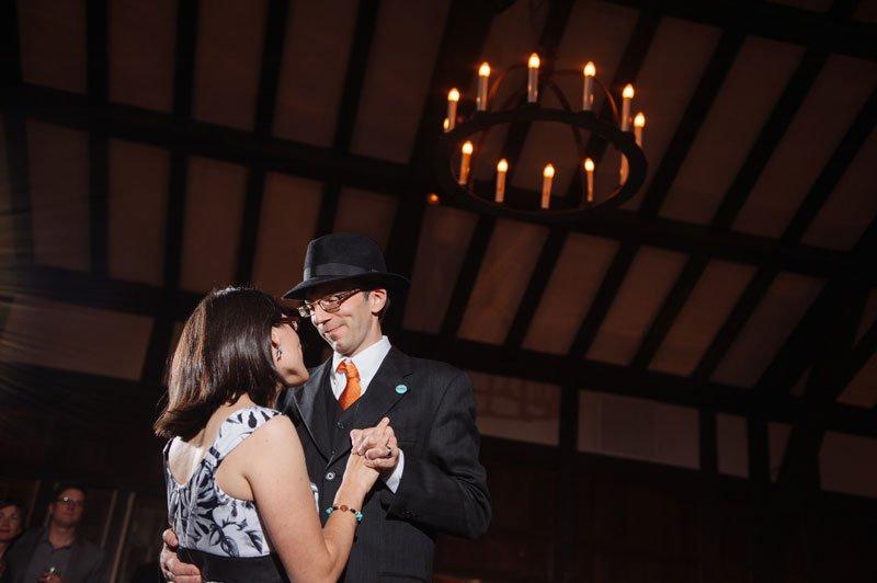 Minneapolis Wedding Photographer first dance at Theadore Wirth Park Chalet Minneapolis