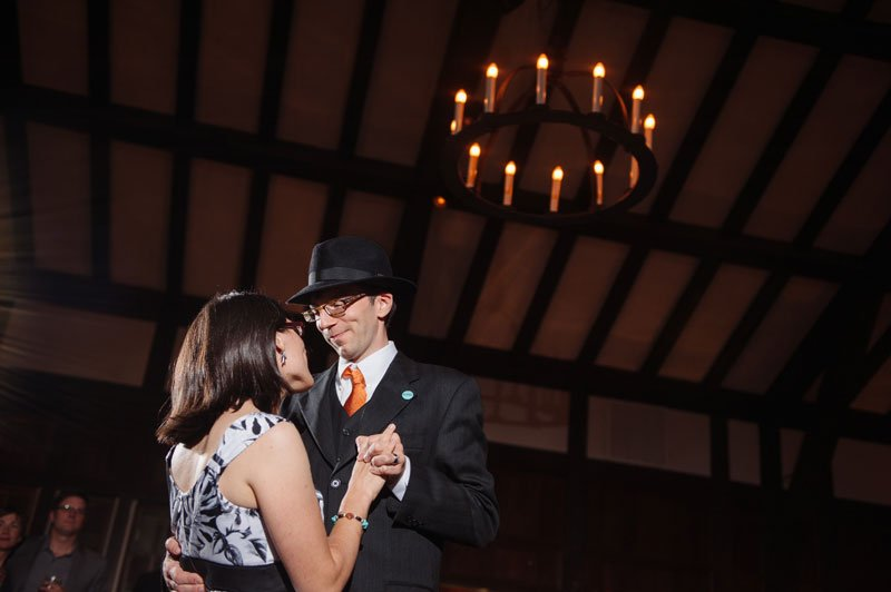 Minneapolis Wedding Photographer first dance at Theadore Wirth Park Chalet Minneapolis