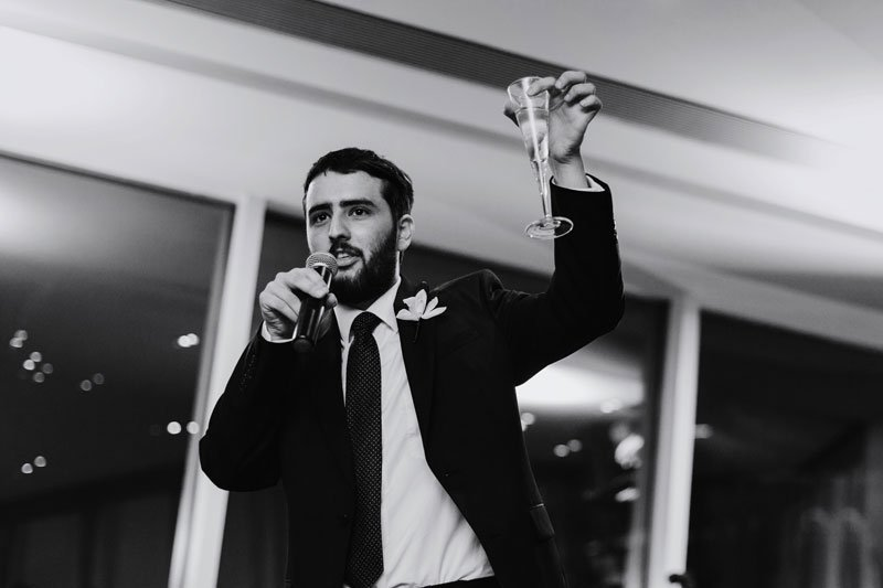 toasts at Walker Art Center wedding Minneapolis MN