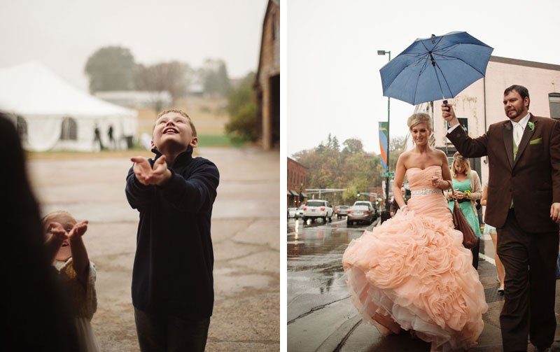 rainy day wedding at barn in stillwater mn wedding