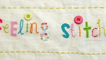 Hand embroidered wedding details featured on feeling stitchy