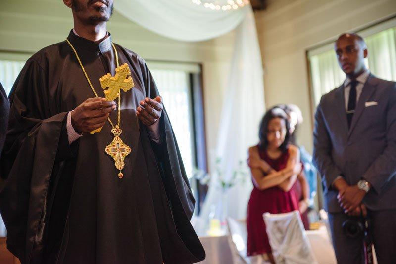 Ethiopian wedding blessing before dinner