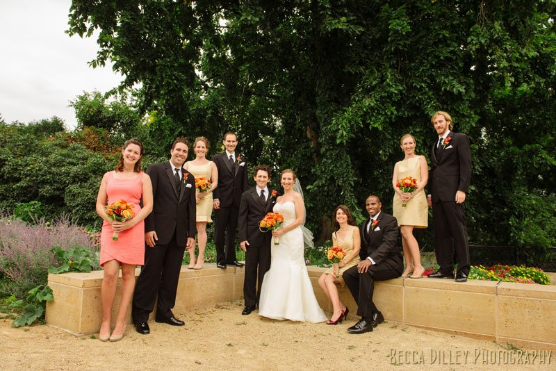 bridesmaids and groomsmen at summit overlook park st paul