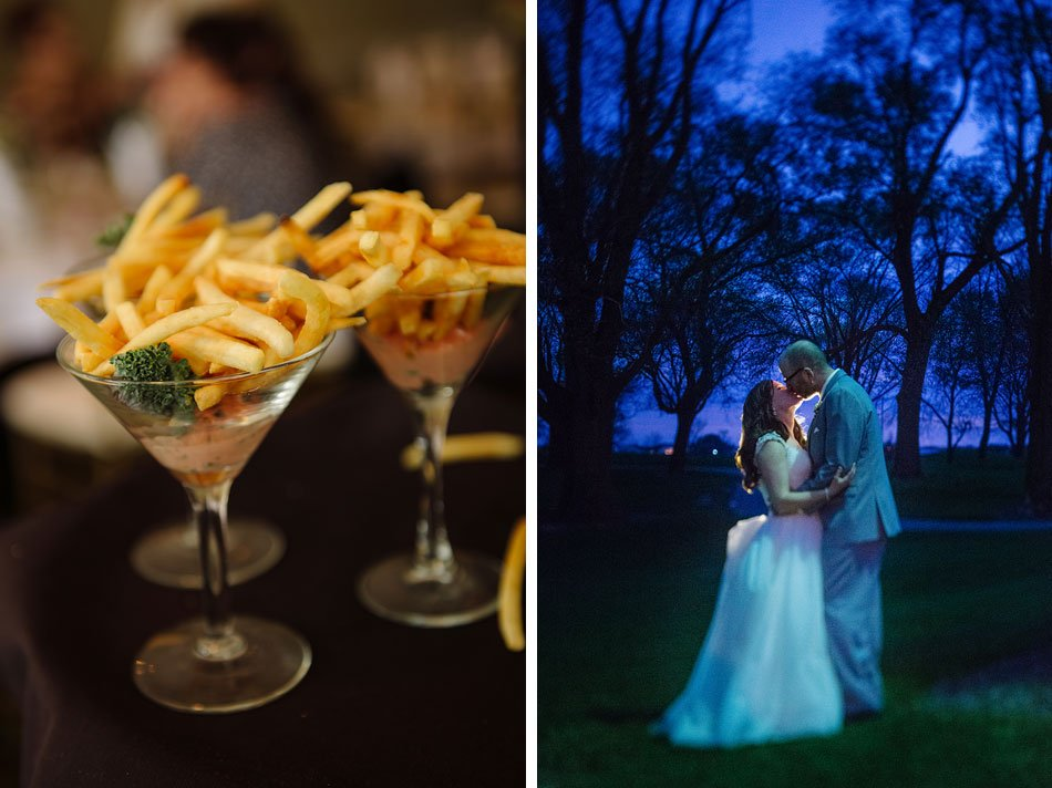 late night bride and groom at Windsor Country Club wedding Madison Wi