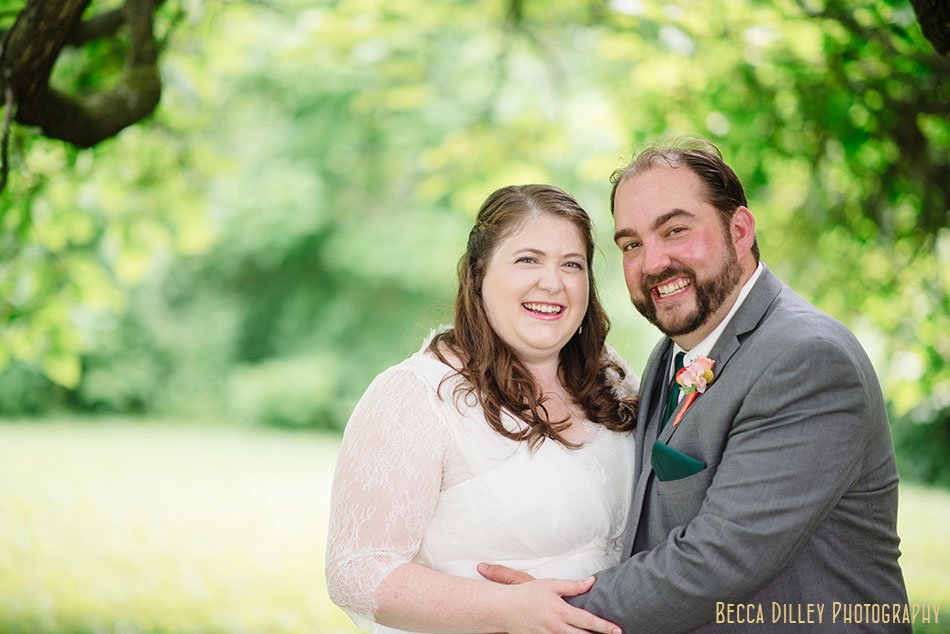 bride and groom at hilltop in Spring Green WI