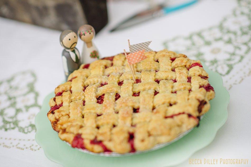 wedding pie at hilltop in Spring Green WI