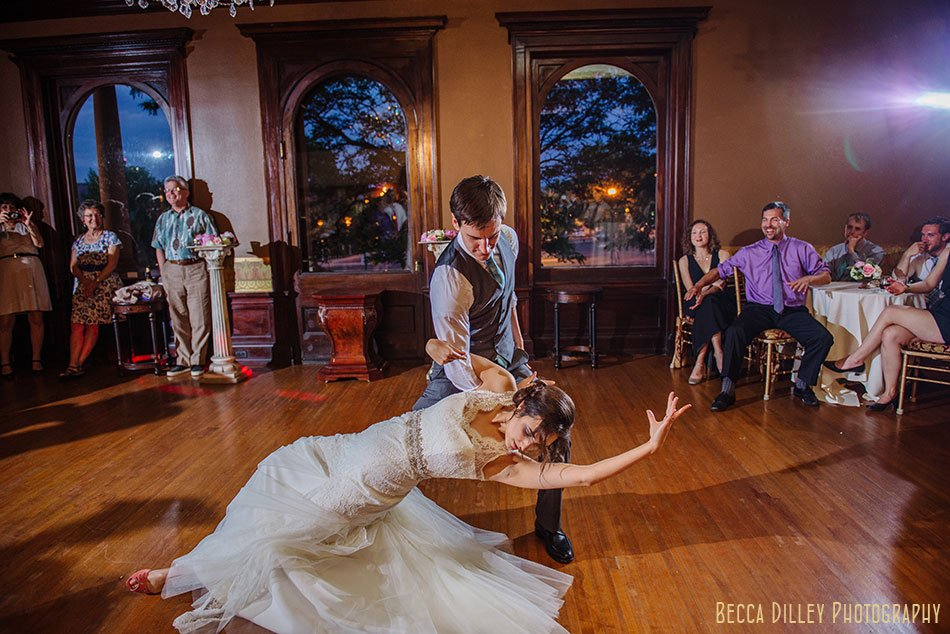 bride and groom first dance at Semple mansion wedding minneapolis mn