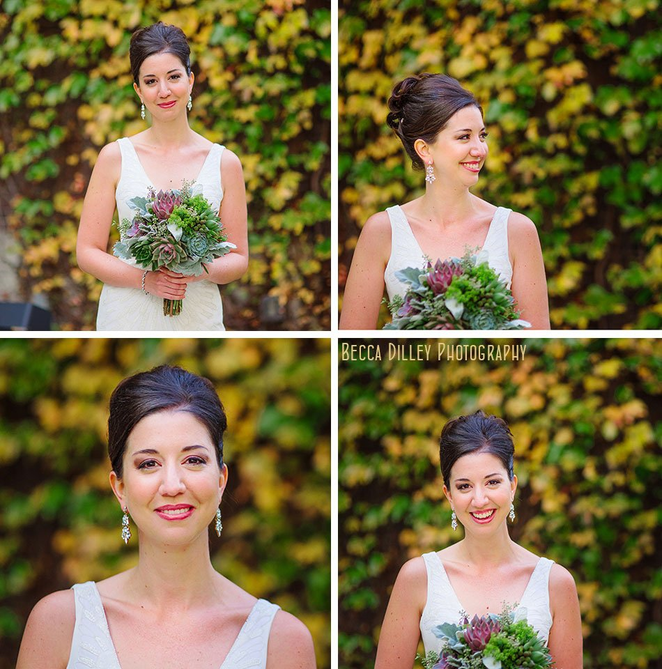 bride in front of ivy Minneapolis club wedding