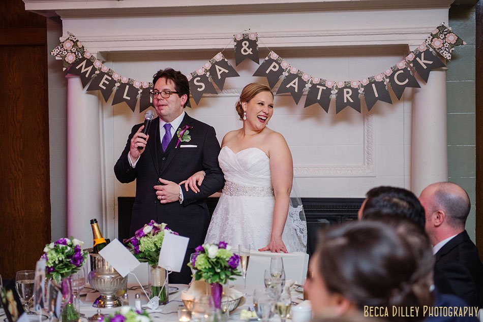 speeches st paul university club wedding