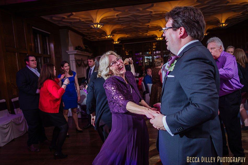 groom dancing with mom st paul university club wedding