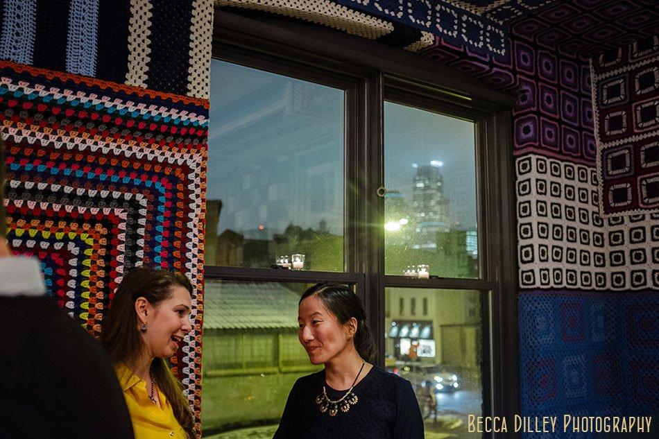 afghan room rehearsal dinner minneapolis wedding photographer at Bachelor Farmer