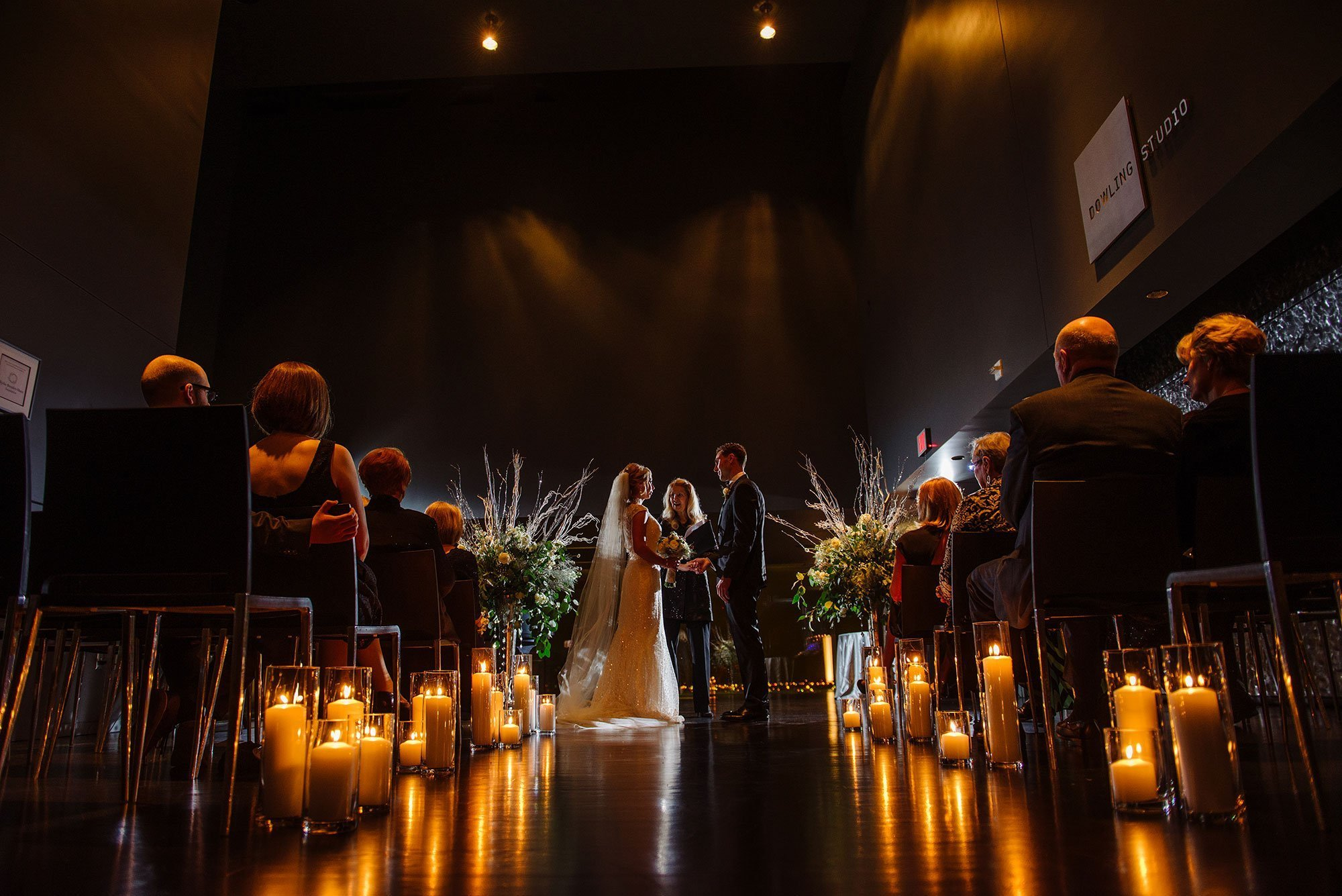 Guthrie theater candlelit wedding ceremony Minneapolis mn