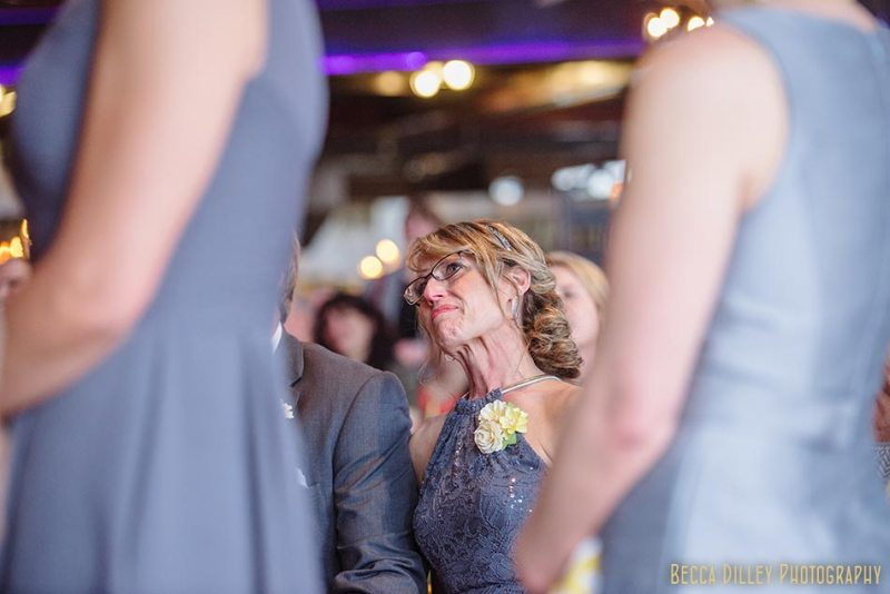 mother of bride during ceremony minneapolis wedding photographer varsity theater april mn