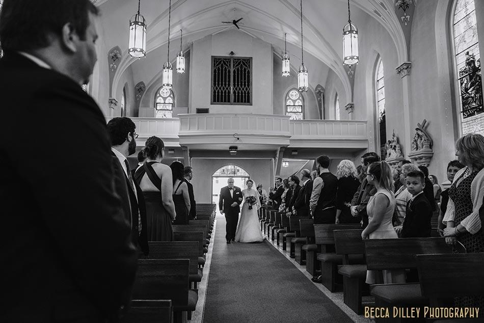 bride and father enter wedding madison wisconsin wedding