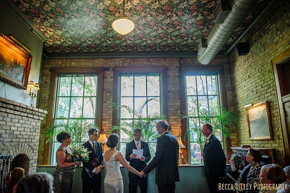 fireplace room ceremony wa frost wedding st paul mn photographer