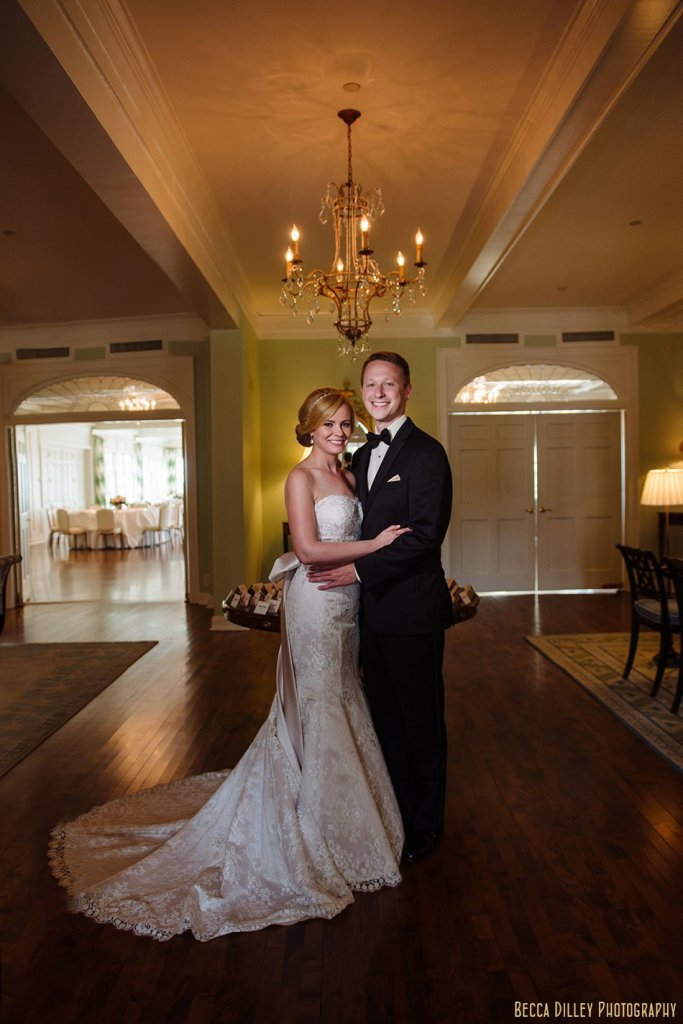 Minikahda Club wedding minneapolis in lobby