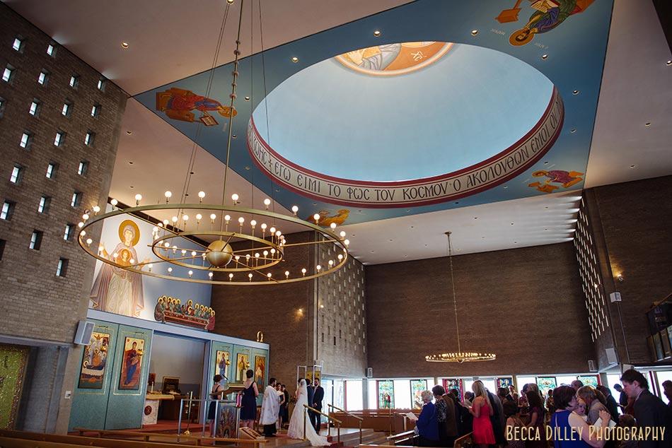 interior Minneapolis greek othodox wedding