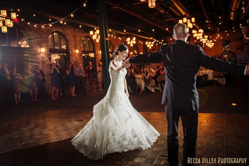 first dance Nicollet Island Pavilion Wedding Minneapolis
