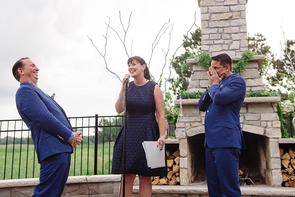 wayzata backyard wedding two grooms