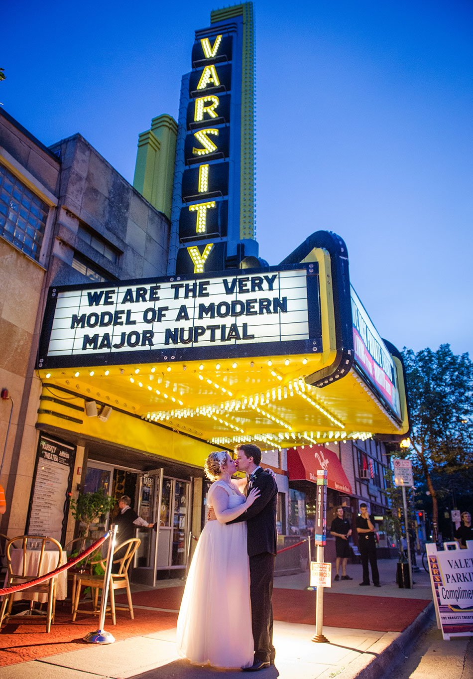 Varsity Theater Fun Minneapolis Wedding Photographer