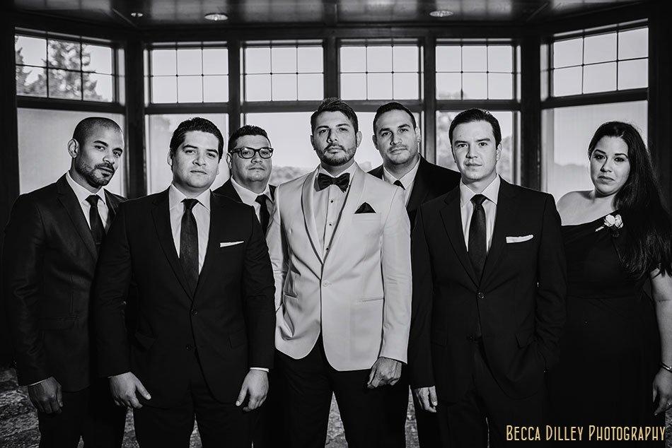 6 groomsmen wayzata country club wedding mn