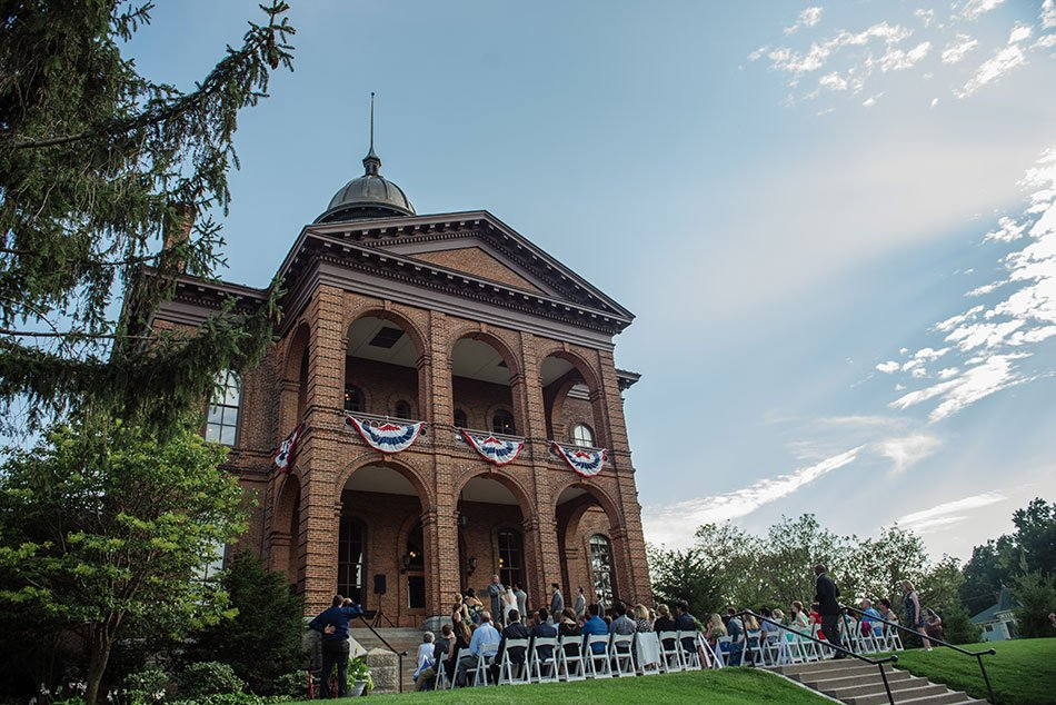 ceremony Stillwater Historic Courthouse Wedding mn