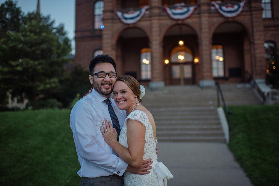 night Stillwater Historic Courthouse Wedding mn