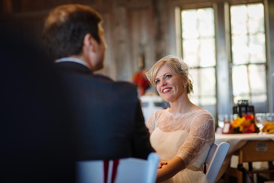 bride during toasts Theodore Wirth Wedding Minneapolis