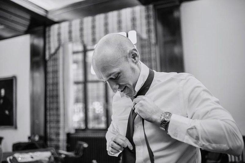 groom getting ready Wedding at Minneapolis Club