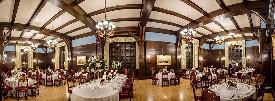 dinning hall interior panorama Wedding at Minneapolis Club