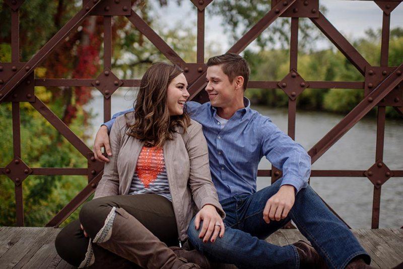 Minneapolis fall engagement photos