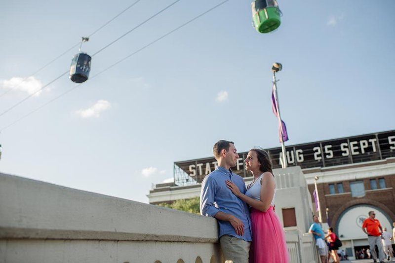 skygliders Minnesota State Fair engagement photos