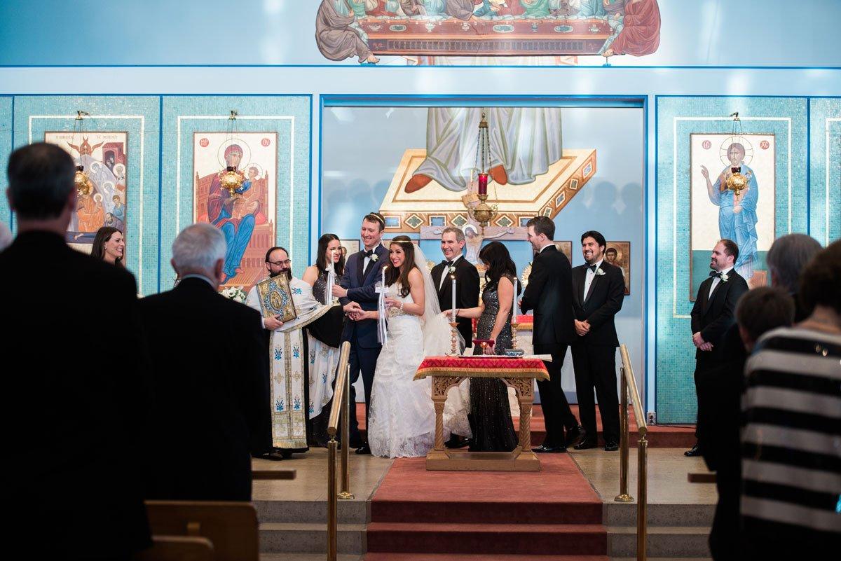 walking around dias fun minneapolis wedding st marys greek orthodox church