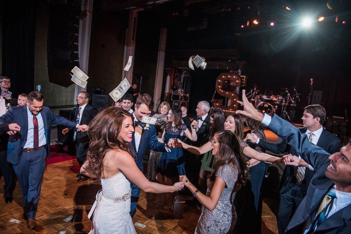 greek dollar dancing fun minneapolis wedding at greek orthodox church and varsity theaterfun minneapolis wedding at varsity theater