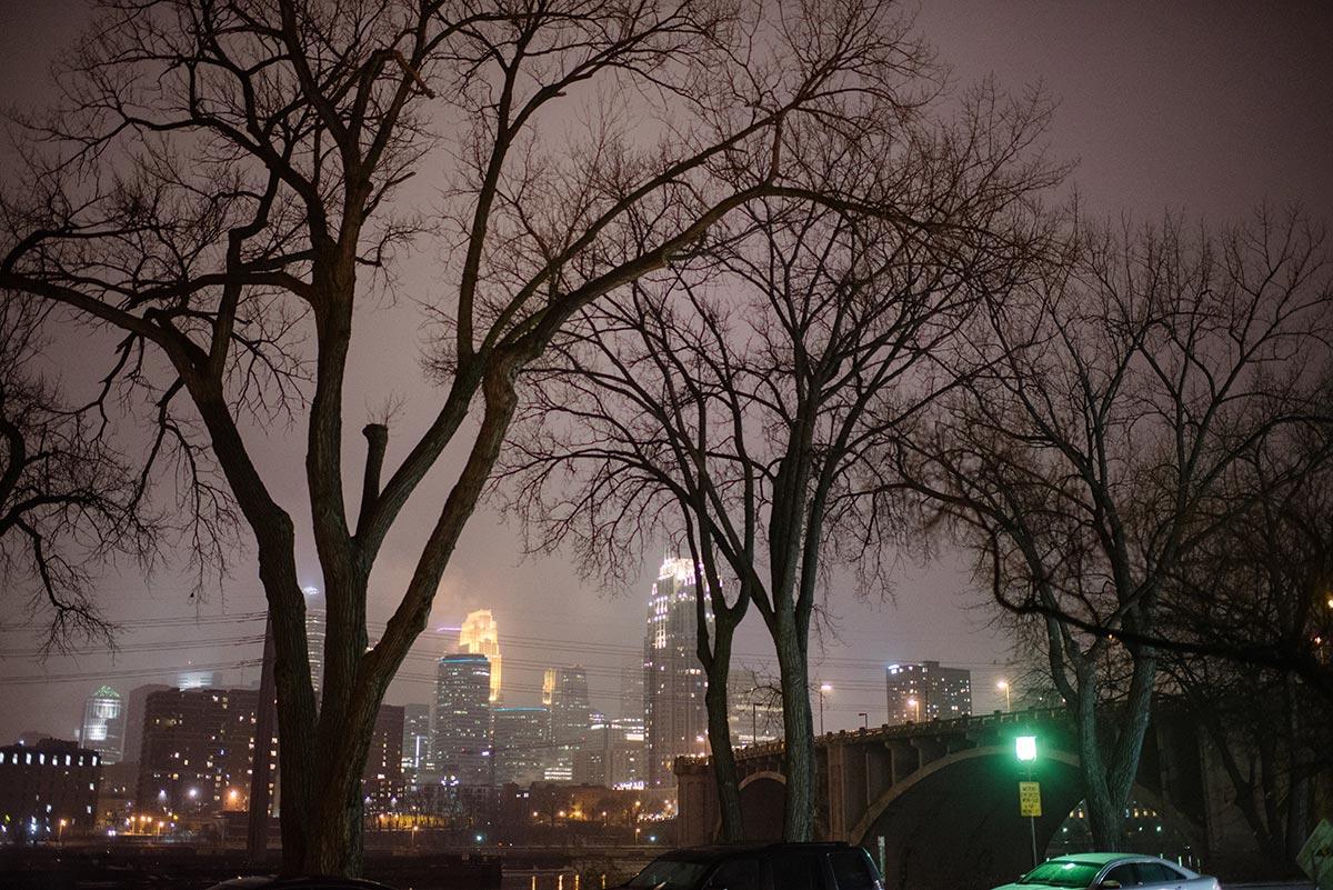 minneapolis skyline Minneapolis winter Aster Cafe Small Wedding