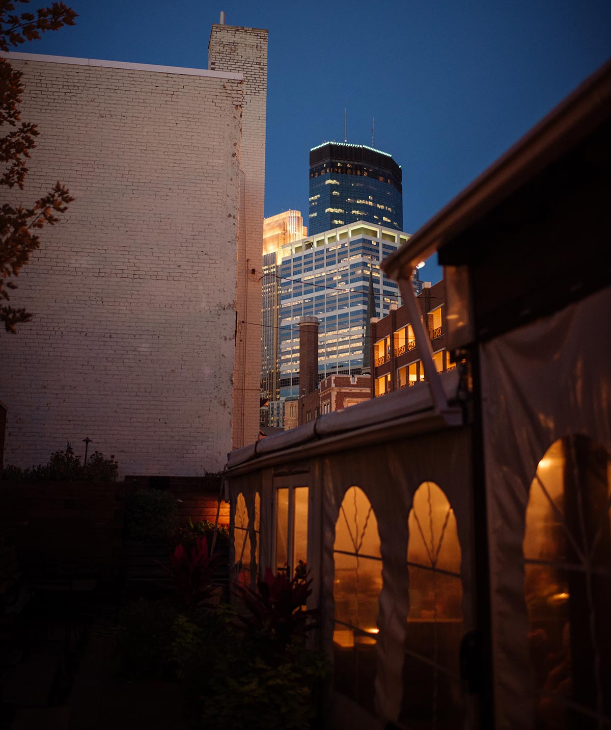 downtown night Minneapolis Rehearsal Dinner Photographer Butcher and the Boar