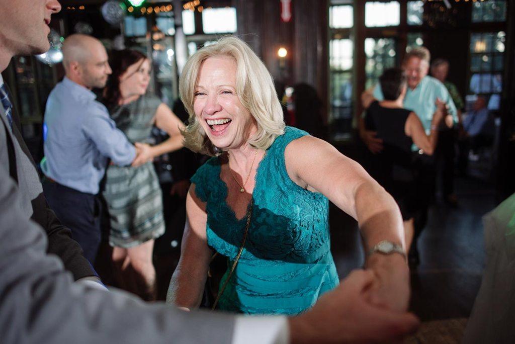 mother dancing Outdoor Minneapolis Wedding