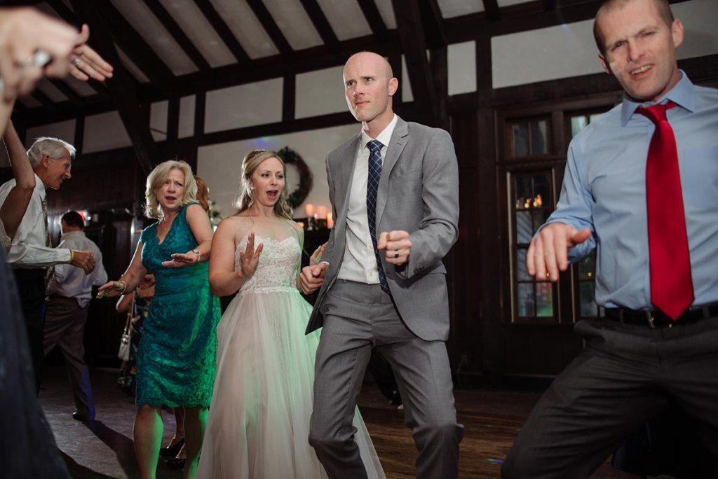 groom dancing Outdoor Minneapolis Wedding