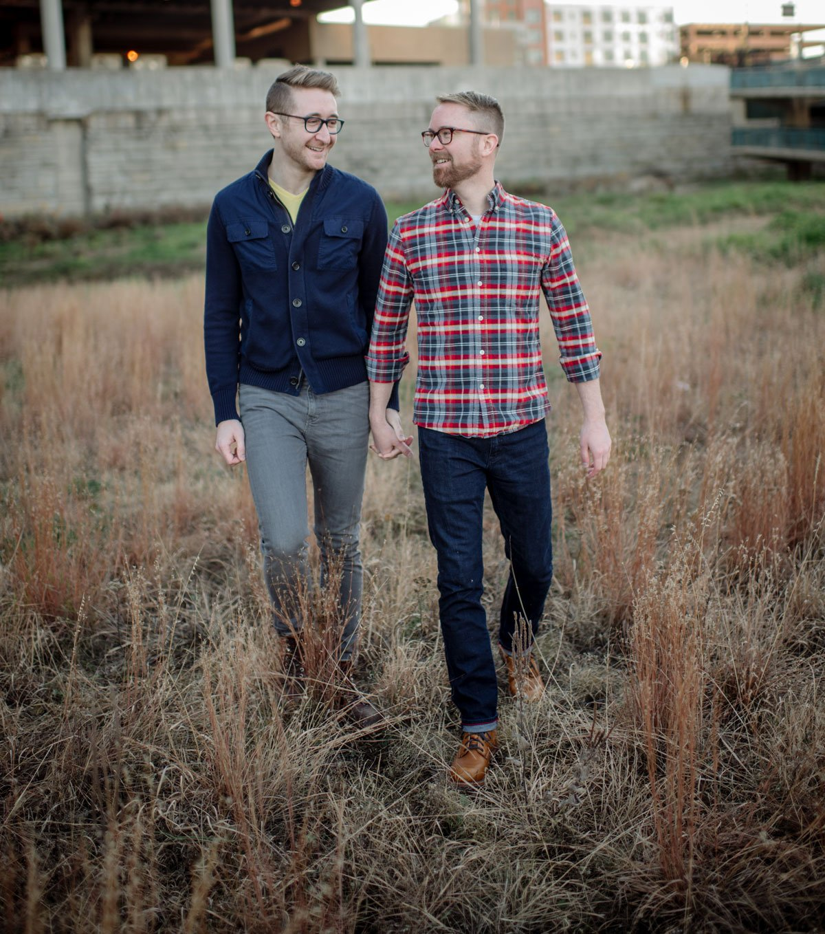same sex engagement photographer two grooms minneapolis