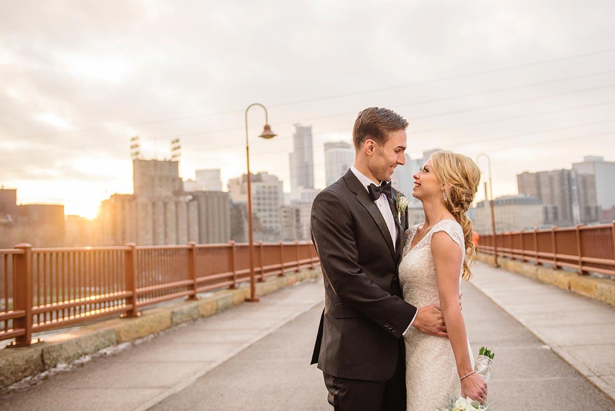 best minneapolis wedding photographer stone arch bridge wide