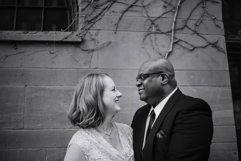 bride and groom in black and white Intimate wa frost wedding st paul mn