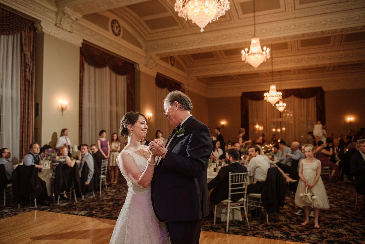 Father daughter dance at st paul athletic club wedding grand ballrom