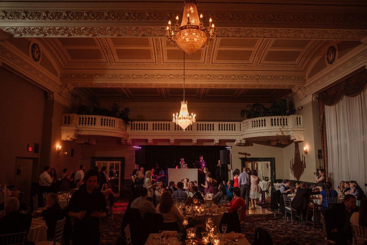Dancing begins with st paul athletic club wedding