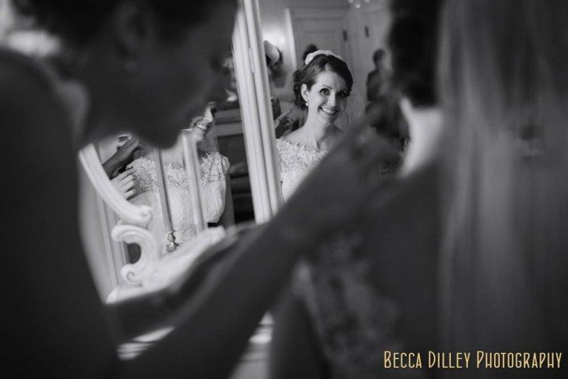 Bride getting ready St Paul College Club Wedding MN