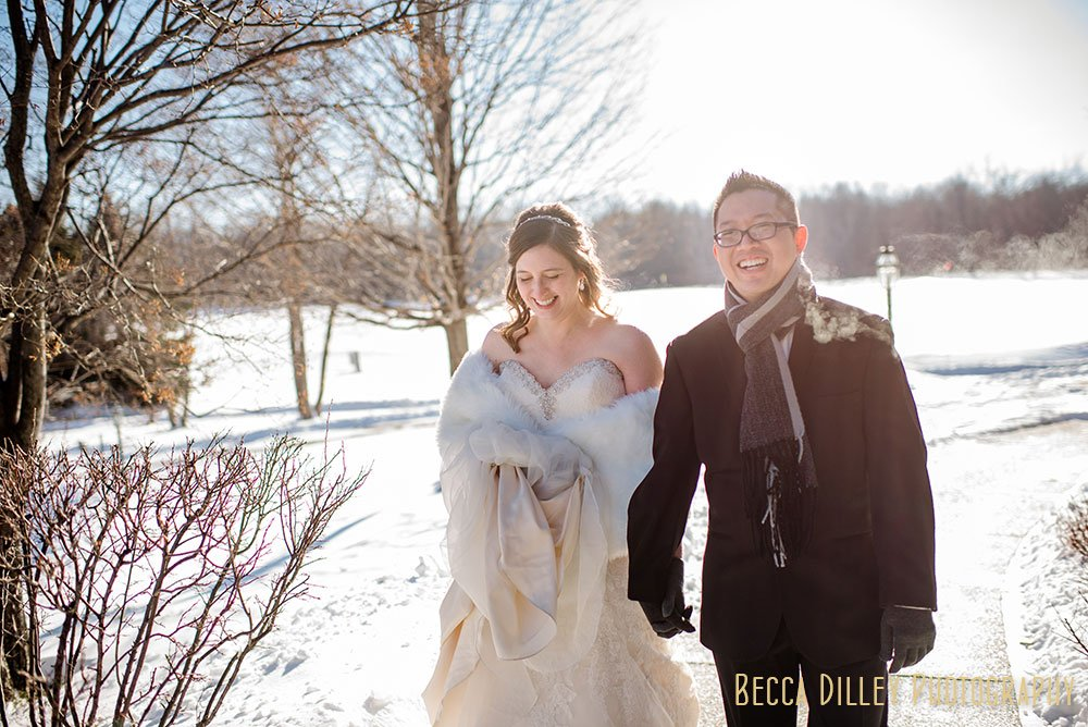 Rush Creek Golf Club Winter Wedding MN
