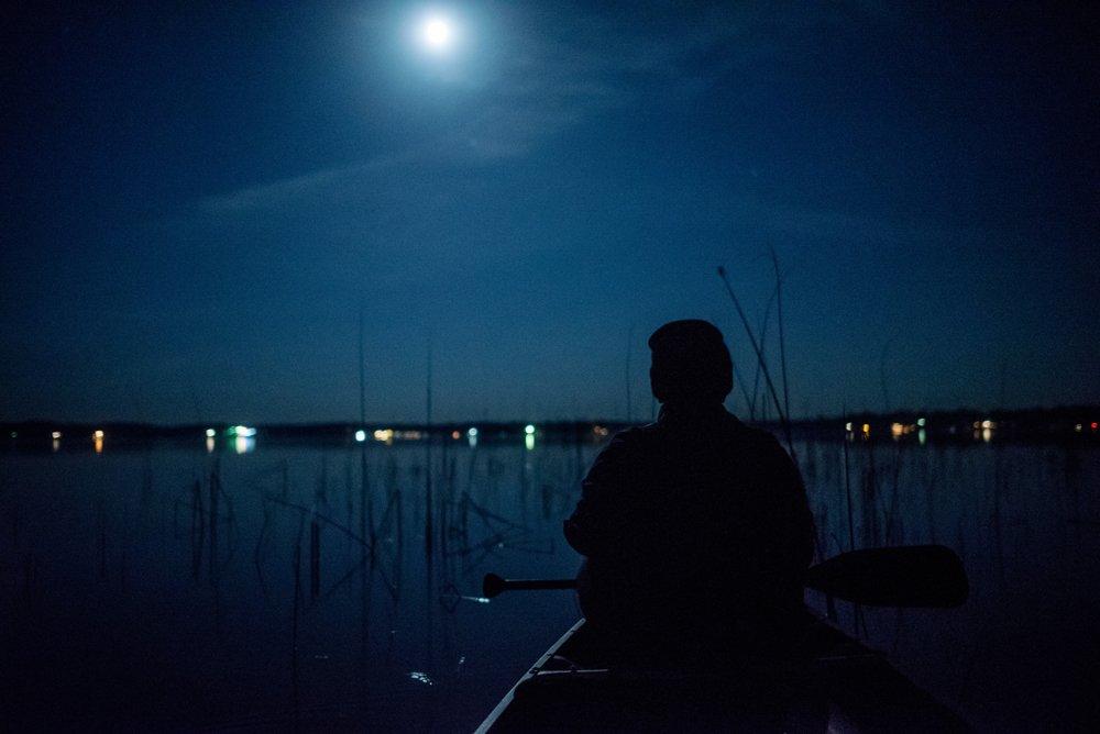 2017 favorite photos best Minneapolis photographer blue canoe silhouette