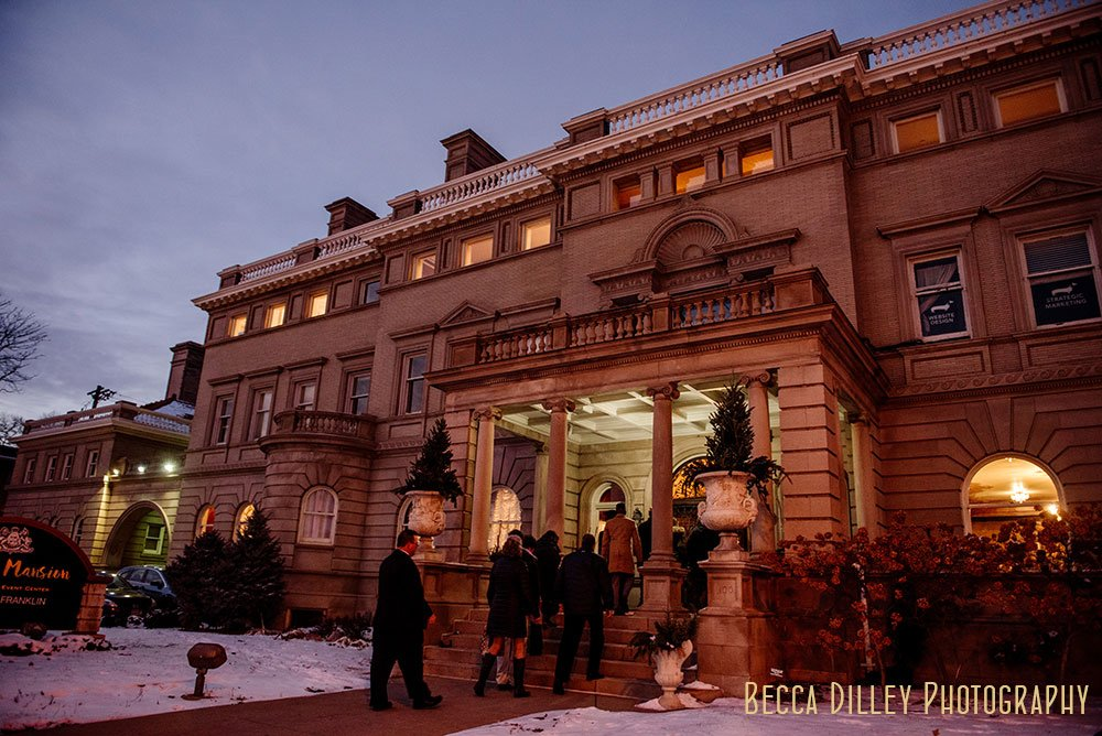 Semple Mansion Wedding Minneapolis winter ceremony