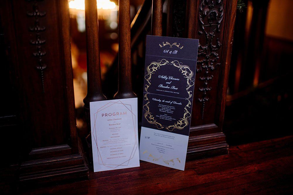 Semple Mansion Wedding Minneapolis invitations