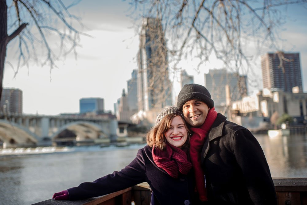minneapolis engagement photos winter