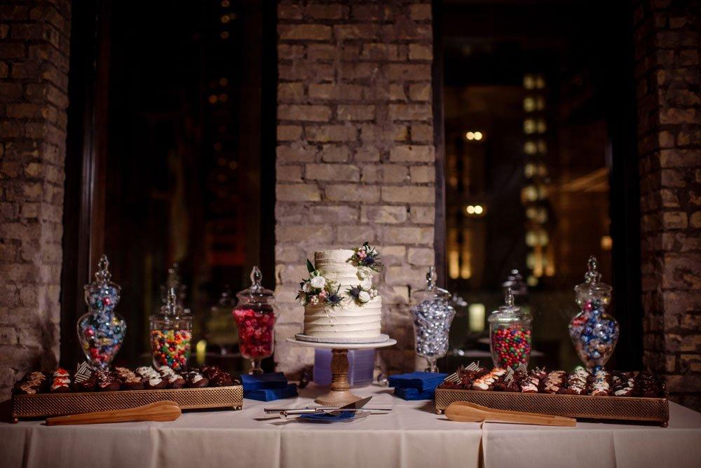 cake table Lumber Exchange Wedding
